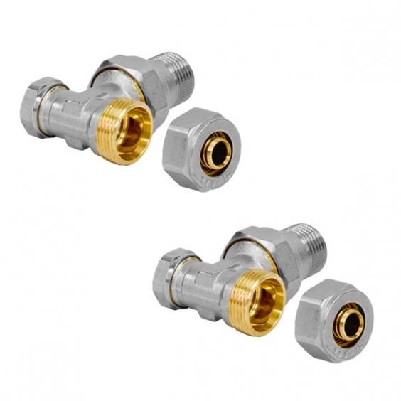 JAGA Mini canal - подключение / 2 запорных вентиля