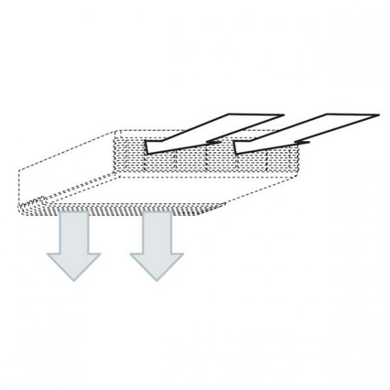 Преобразователь для выхода воздуха вниз для модели BRIC