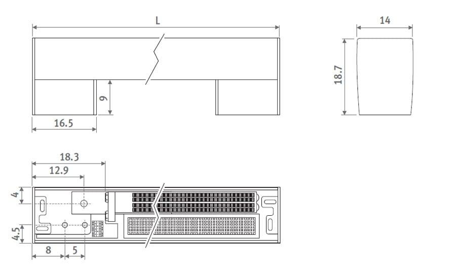 Радиатор напольный Freedom Micro размер
