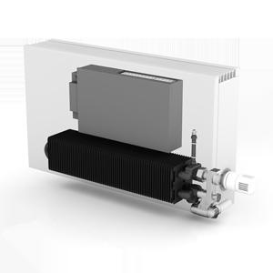 теплообменник JAGA Low-h2o с модулем OXYGEN в кожухе конвектора STRADA